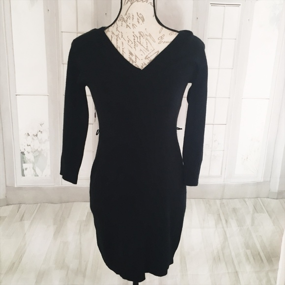 Sequin Hearts Dresses Medium Juniors Black Sweater Dress Poshmark
